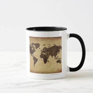 Close up of antique world map 3 mug