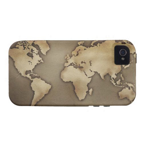Close up of antique world map 4 vibe iPhone 4 covers