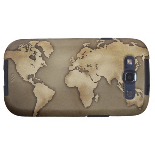 Close up of antique world map 4 samsung galaxy s3 cover