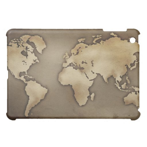 Close up of antique world map 4 case for the iPad mini