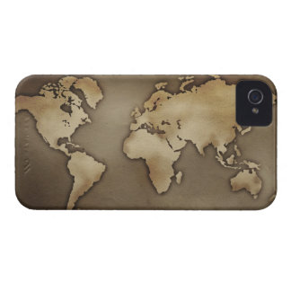 Close up of antique world map 4 iPhone 4 Case-Mate case