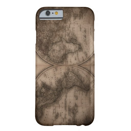 Close up of antique world map 5 iPhone 6 case
