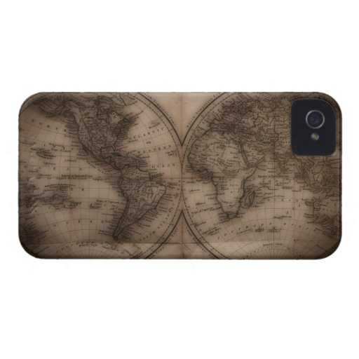 Close up of antique world map 5 iPhone 4 Case-Mate cases