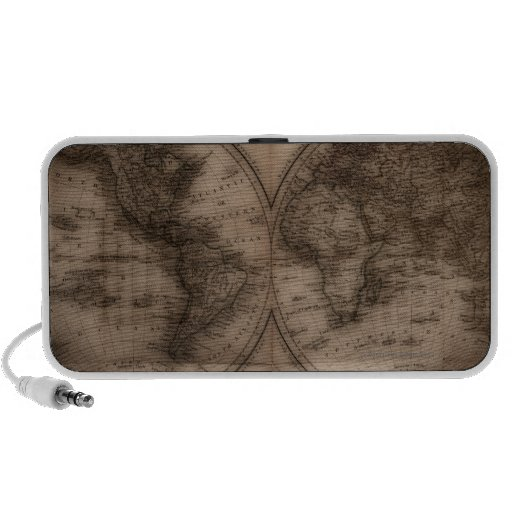 Close up of antique world map 5 iPhone speaker