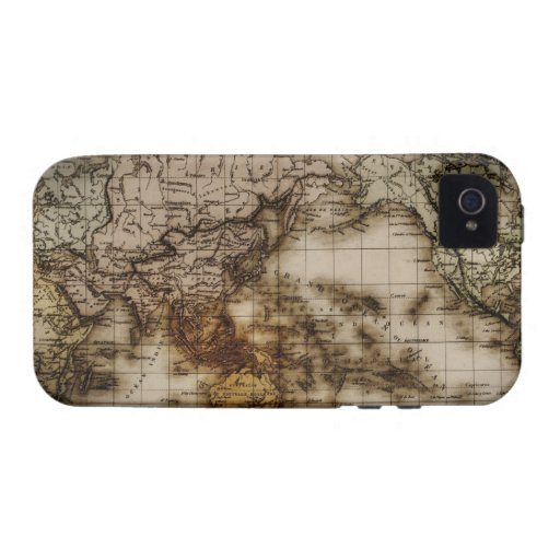 Close up of antique world map 6 vibe iPhone 4 covers