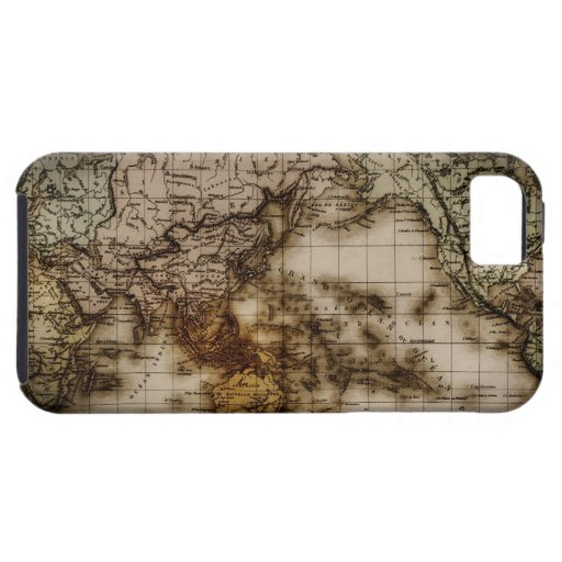 Close up of antique world map 6 iPhone 5 cases