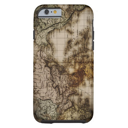 Close up of antique world map 6 iPhone 6 case