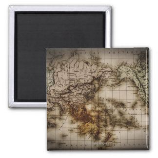 Close up of antique world map 6 magnet