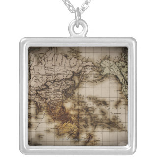 Close up of antique world map 6 pendants