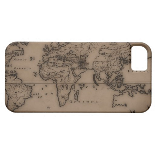 Close up of antique world map 7 iPhone 5 case