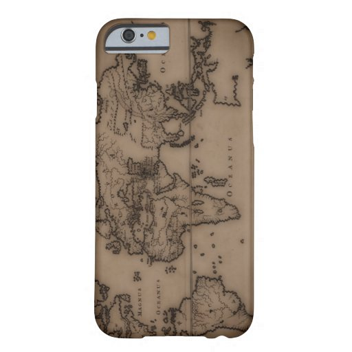 Close up of antique world map 7 iPhone 6 case