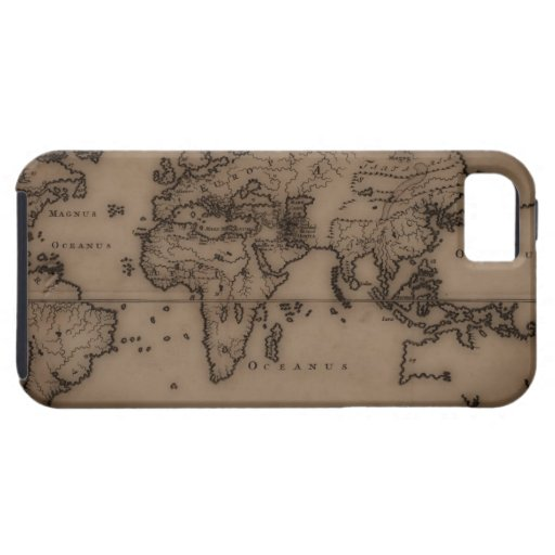 Close up of antique world map 7 iPhone 5 cases