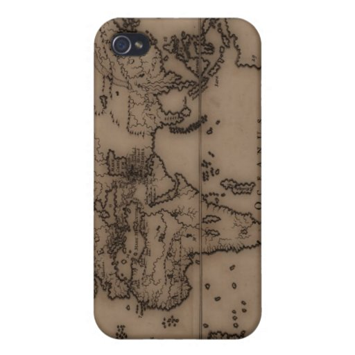 Close up of antique world map 7 iPhone 4 case