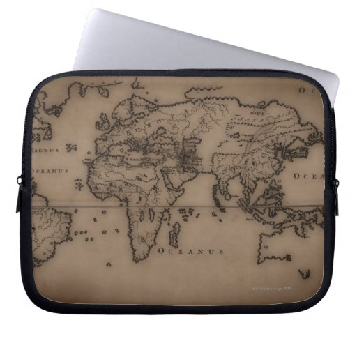Close up of antique world map 7 laptop computer sleeves