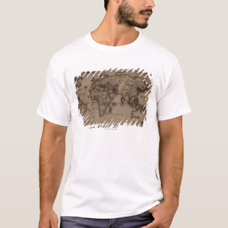 Close up of antique world map 7 T-Shirt