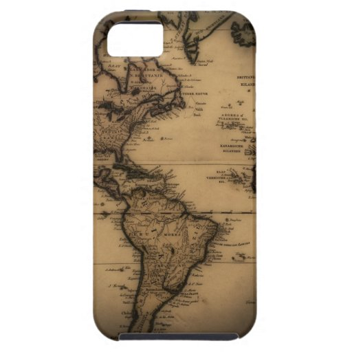 Close up of antique world map iPhone 5 case