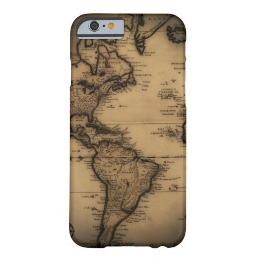 Close up of antique world map iPhone 6 case