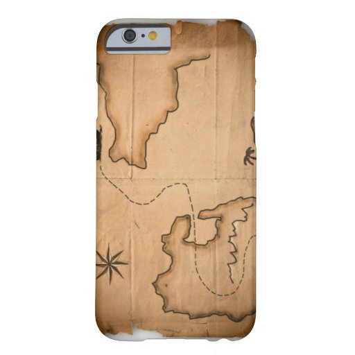 Close up of antique world map with ship route iPhone 6 case