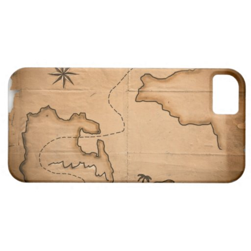 Close up of antique world map with ship route iPhone 5 cases