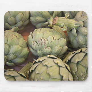 Close up of artichokes mouse pad