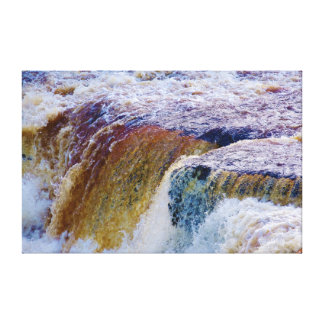 Close Up of Aysgarth Falls in Yorkshire Canvas Print