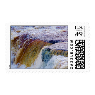 Close Up of Aysgarth Falls in Yorkshire Stamps