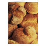 close-up of baked bread card