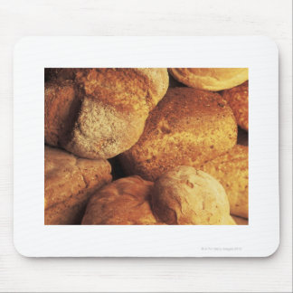 close-up of baked bread mouse pad