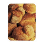 close-up of baked bread rectangular magnet