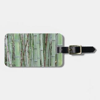 Close-up of bamboo grove bag tag