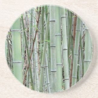 Close-up of bamboo grove drink coaster