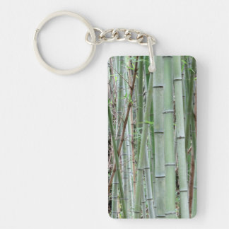 Close-up of bamboo grove keychain