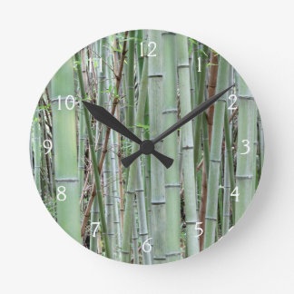 Close-up of bamboo grove round clock