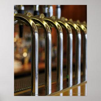 Close-up of bar taps poster