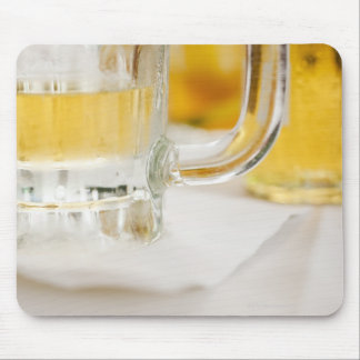 Close up of beer in glass mousepad