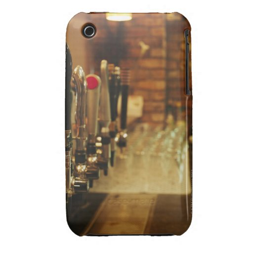 Close-up of beer taps in bar 2 Case-Mate iPhone 3 case