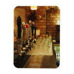 Close-up of beer taps in bar 2 rectangular magnets