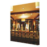 Close-up of beer taps in bar gallery wrap canvas