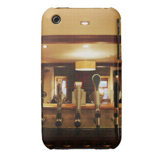 Close-up of beer taps in bar iPhone 3 covers