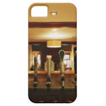 Close-up of beer taps in bar iPhone 5 case