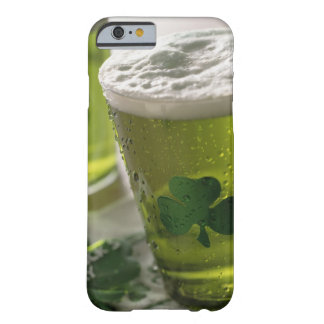 Close up of beverages with shamrocks on glass barely there iPhone 6 case