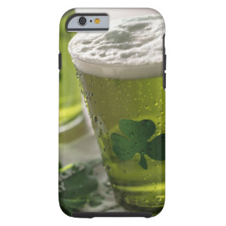 Close up of beverages with shamrocks on glass tough iPhone 6 case