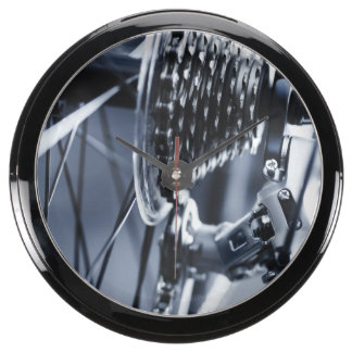 Close up of bicycle gears 2 fish tank clock
