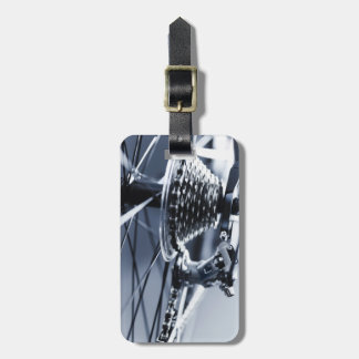 Close up of bicycle gears 2 bag tags