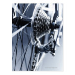 Close up of bicycle gears 2 postcard