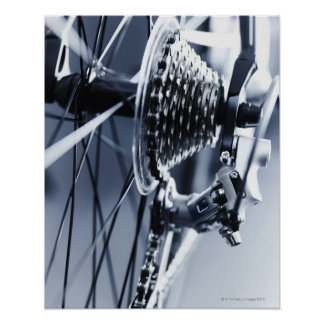 Close up of bicycle gears 2 poster