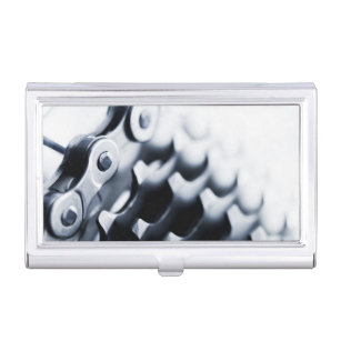 Bicycle business card holders cases zazzle close up of bicycle gears business card case colourmoves Choice Image