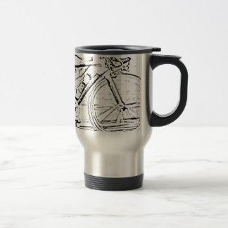 Close up of bike travel mug