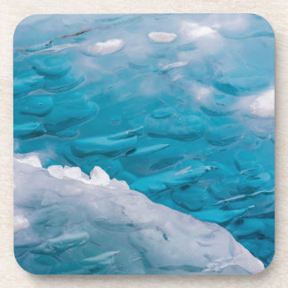 Close-up of blue ice coaster