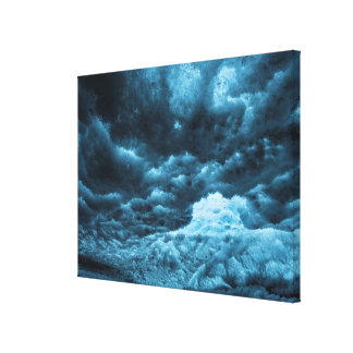 Close up of blue ice, Iceland Canvas Print